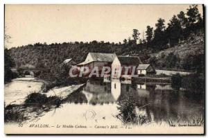 Postcard Old water mill mill Avallon Cadoux