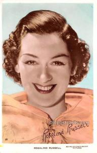 Rosalind Russell Movie Star Actor Actress Film Star Postcard, Old Vintage Ant...