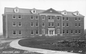 Mt Vernon Iowa~Cornell College~Pfeiffer Hall~1930s Real Photo Postcard~RPPC