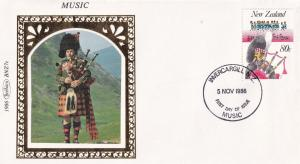 New Zealand Scottish Military Bagpipes Benham First Day Cover