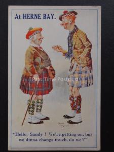 Comic Scottish Kilt Theme AT HERNE BAY Hello Sandy! ....... c1939 by ETW Dennis