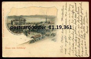 361 - SWITZERLAND Gruss vom Uetliberg 1906 Railway Train Station. Hotel