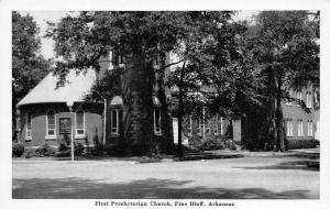 Pine Bluff Arkansas~Fat Tree Trunk in Front of First Presbyterian Church B&W