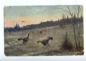 183243 RUSSIA Zvorykin HUNT capercaillie blackcock ADVERTISING