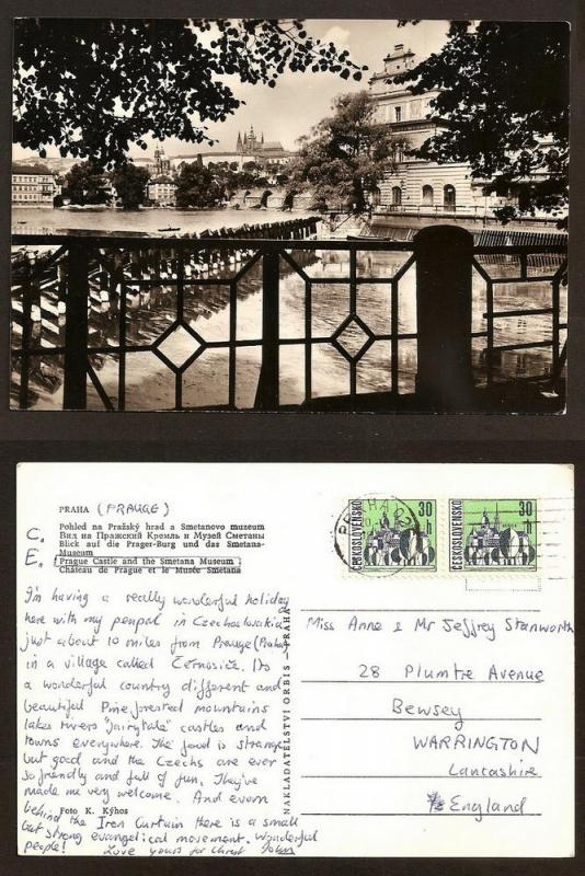 CZECH  POSTCARD R.PHOTO /STAMPS 1967 PRAHA