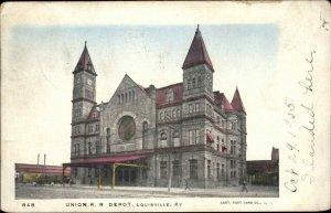 Louisville KY RR Depot Train Station RPO Cancel Used 1905 Postcard
