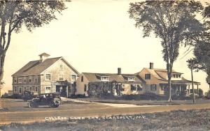Searsport ME College Club Inn Old Car Real Photo by Cook in 1929 Postcard