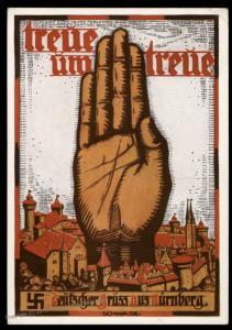 3rd Reich Germany 1934 Reichsparteitag Faithful Propaganda Card 90972