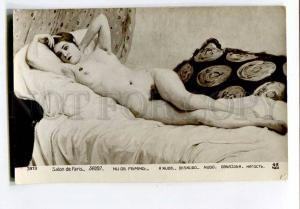 257135 TAIBO Nude Female BELLE on Sofa Vintage SALON postcard