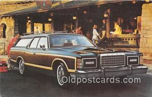 1976 Missing Stamp Postcard Post Card 1977 Ford LTD Country Squire Wagon
