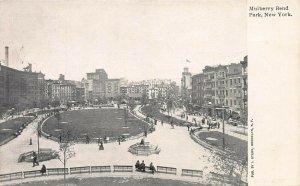 Mulberry Bend Park, Manhattan, New York City, Early Postcard, Unused