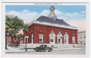 Post Office Emporia Kansas 1946 postcard