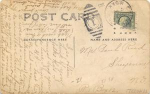 Grafton ND~Hill Street~Churches~Hospital~Insane Asylum~Feeble Minded~1909 RPPC