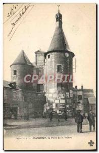 Old Postcard Prison Issoudun The prison door