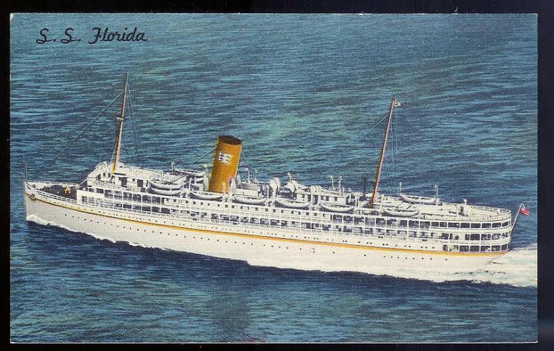 SS Florida P & O Steamship Company Nassau Cruise