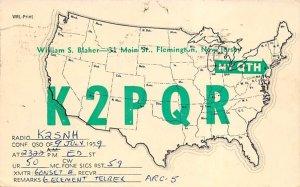 K2PQR Flemington, NJ, USA QSL 1959