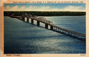 VTG Postcard Eggner's Ferry Bridge US 68 Kentucky Lake 1953 Tennessee  226