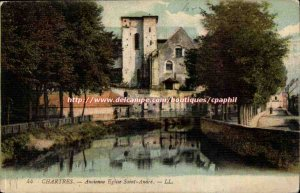 Chartres Old Postcard Old church Saint Anare