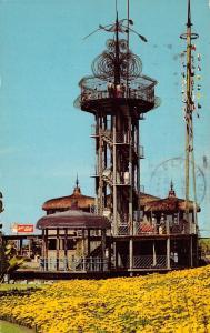 San Diego California 1973 Postcard Vacation Village Tower Hotel Mission Bay