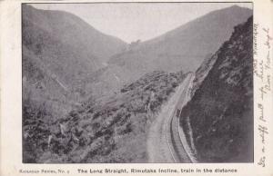 Railroad , The Long Straight , Rimutaka Incline , New Zealand , PU-1906