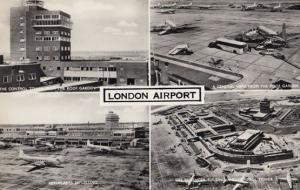 London Airport Runway Roof Gardens 4 Great Multi Views 1960s Real Photo Postcard