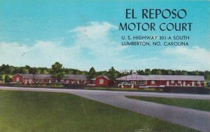 North Carolina Lumberton El Reposo Motor Court 1966