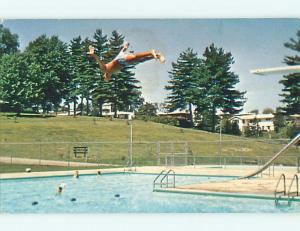Pre-1980 DIVING INTO POOL AT NOBLE COUNTY FAIRGROUNDS Caldwell OH t4086-13