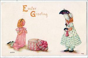 Easter Greetings - Little Girls