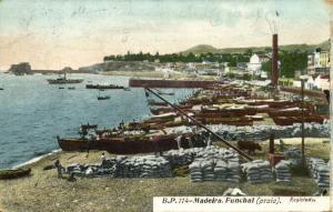 portugal, MADEIRA FUNCHAL, Praia, Harbour Scene (1911)