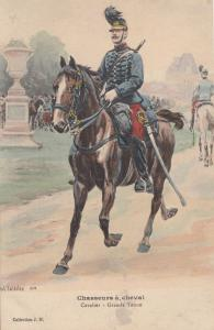 Chasseurs A Cheval Cavalier Grande Tenue Old Soldier French Military Postcard