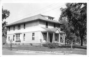Battle Creek Iowa~Masonic Hall (House)~Small Trees in Yard~1950s RPPC-Postcard
