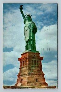 Statue Of Liberty, Bedloe's Island 1883 Gift Chrome New York City c1956 Postcard