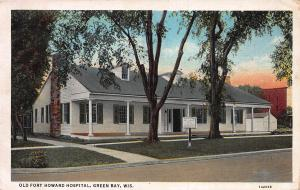 Old Fort Howard Hospital, Green Bay, Wisconsin, Early Postcard