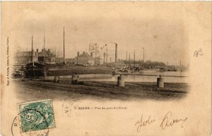 CPA REIMS Vue du port du Canal (490761)