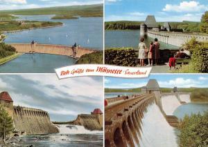 Vintage 1978 Postcard, Mohne Dame & Reservoir Multiview, Germany C10