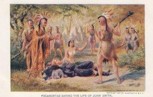 Pocahontas saving life of John Smith , 1907