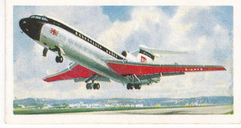 Trade Cards Brooke Bond Tea TRANSPORT THROUGH THE AGES No 43 Modern Jet Aircraft