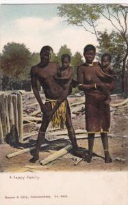 SOUTH AFRICA, 1900-10s; A Happy Family, Topless Woman