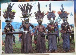 Papua New Guinea Western Highlands Singsing group - posted 1984