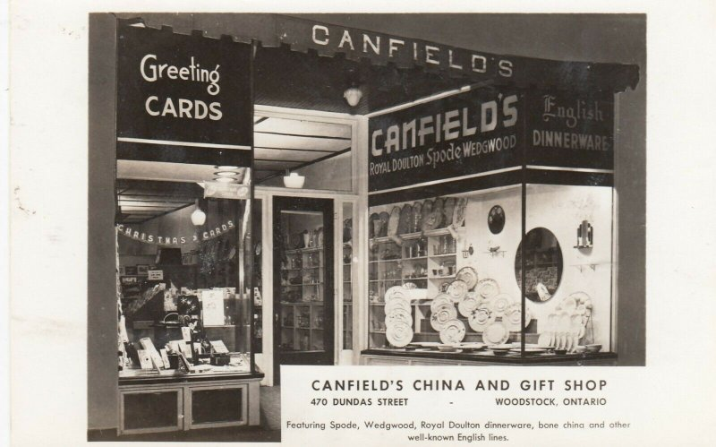 RP: WOODSTOCK , Ontario ,1930s ; Canfield's China & Gify Shop