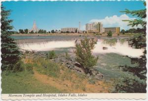 Mormon Temple and Hospital, Idaho Falls, Idaho, Postcard