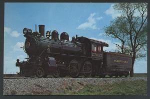Short Line 1223 Pennsylvania Strasburg Railroad Maine Line Train Postcard