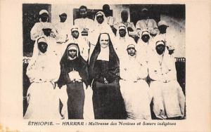 Ethiopia Ethiopie Harrar Maitresse des Novices et Soeurs indigenes