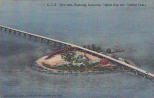 Florida Pigeon D C 8 Overseas Highway Spanning Pigeon Key And Fishing Camp Cu...