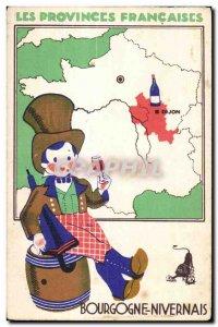 Old Postcard Burgundy and Nivernais