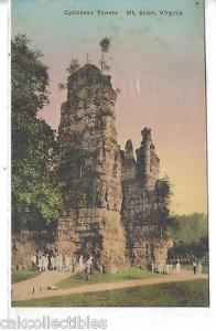 Cyclopean Towers-Mt. Solon,Virginia (Hand Colored)