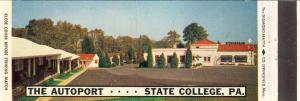 State College, Penn/PA Matchcover, The Autoport Motel/Rest.