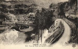 CPA Vue du pont de St-Chely (107968)