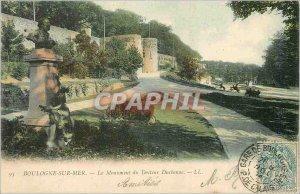 Old Postcard Boulogne sur Mer The Monument of Dr. Duchenne