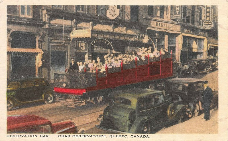 Observation Car, Quebec, Canada, Early Postcard, Unused
